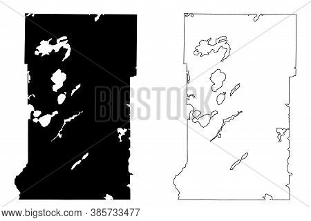 Crow Wing County,  Minnesota (u.s. County, United States Of America, Usa, U.s., Us) Map Vector Illus