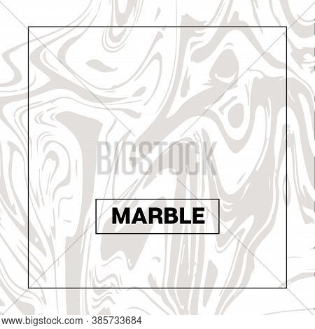Gray Marble Texture Vector Square Watercolor Background. Liquid Paint Suminagashi Trendy Pattern For