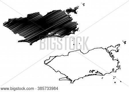 Rio De Janeiro City (federative Republic Of Brazil, Rio De Janeiro State) Map Vector Illustration, S