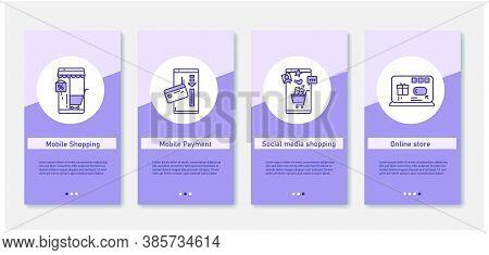 Online Shopping Mobile App. Set Of App Screens With Shopping, Payment, Media Shopping And Online Sto