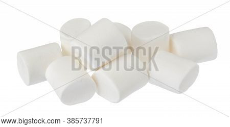 Marshmallow Isolated On White Background With Clipping Path And Full Depth Of Field