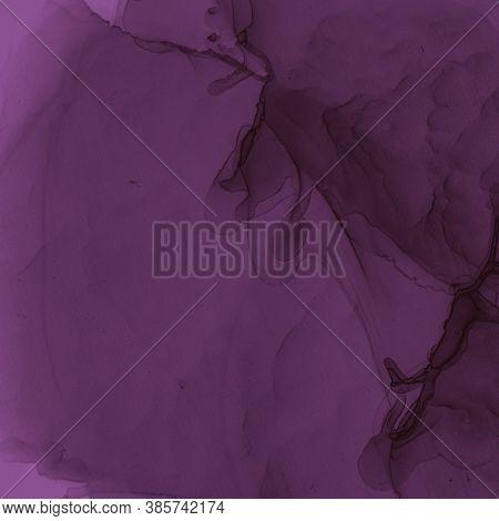 Burgundy Wine Wallpaper. Watercolour Winery Template. Modern Gradient Stains. Purple Art Paper. Alco