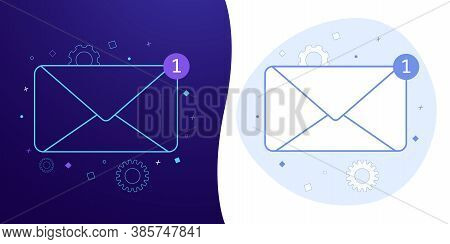 Newsletter Subscription Vector Concept With Black And White Background, Dark Ultra Violet Neon Glowi
