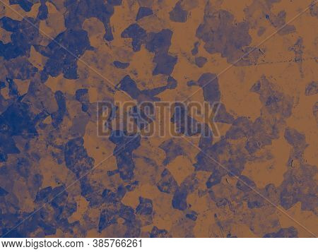 Watercolour Fashion Camouflage. Blue Army Pattern. Camo Background. Abstract Color Print. Fashion Ca