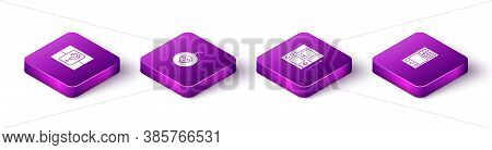 Set Isometric Mystery Or Random Box, Bomb Ready To Explode, Portable Video Game Console And Create A