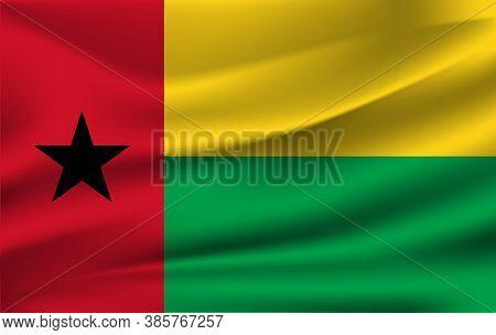 Guinea-bissau National Flag. Republic Of Guinea-bissau Vector Illustration Symbol.