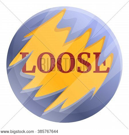 Loose Scratch Circle Icon. Cartoon Of Loose Scratch Circle Vector Icon For Web Design Isolated On Wh