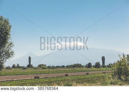 Beautiful View. Arara T Mountains From  Armenia