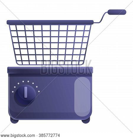 Household Deep Fryer Icon. Cartoon Of Household Deep Fryer Vector Icon For Web Design Isolated On Wh
