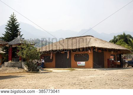 Architecture Building Baan Santichon Yunan Valley Or Chinese Yunnan Cultural Village For Thai People