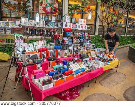 Udon Thani/thailand-11 Dec 2017:unacquainted People In Ud Town Community Mall  At Udon Thani City Th
