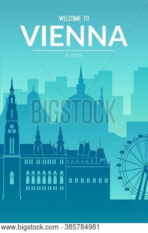 Vienna, Austria Famous City Scape View Background.