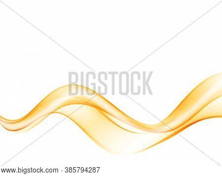 Abstract Smooth Wave Curve Flow Orange Motion Orange Wave Flow