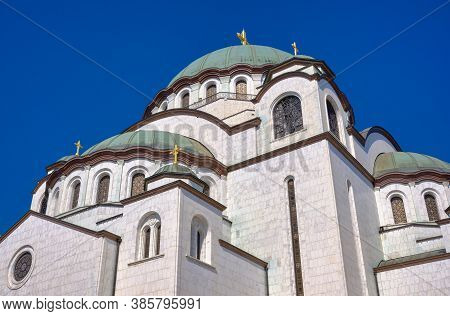 Saint Sava Church Orthodox Christian Church In Belgrade, Capital Of Serbia