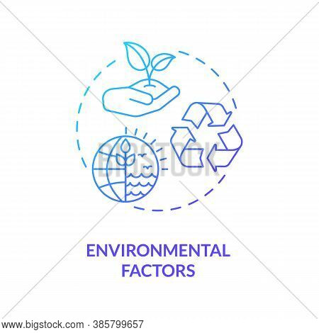 Environmental Factors Concept Icon. Pestel Analysis. Cooperation Work To Help Nature Recovering. Nat
