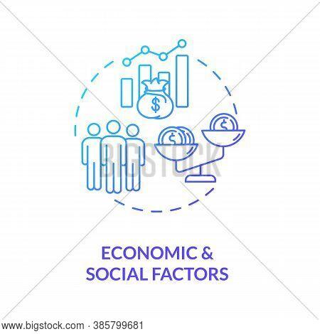 Economic And Social Factors Concept Icon. Pestel Analysis. Money Problems Solving Advices. Communica