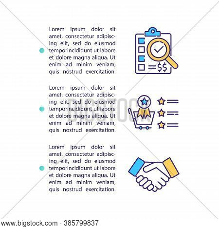 Business Strategic Partner Concept Icon With Text. Goals Achievements And Communication Success. Ppt
