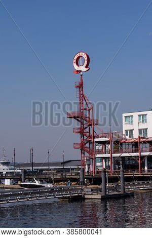 September 8,2020 North Vancouver British Columbia Canada Lonsdale Quay Lookout Tower On A Hazy Day