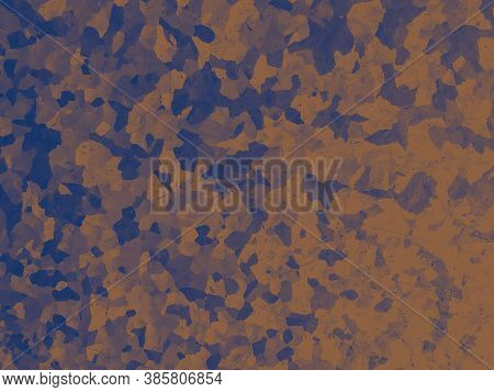 Watercolor Fashion Camouflage. Orange War Textile. Camo Wallpaper. Graphic Desert Print. Fashion Cam