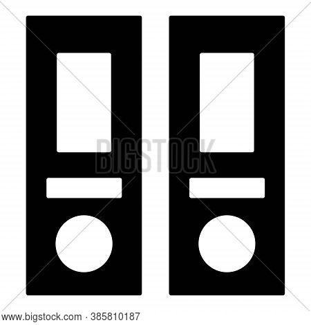 Binders Vector Icon In Line Style. Office Dossiers Folders Symbol. Collection Of Files, Documents In