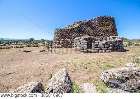 The Nuraghe Losa, Ancient Megalithic Edifice Found In Sardinia. Italy