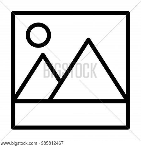 Picture Vector Icon, Image Symbol. Album, Gallery, Multiple Photos, Jpeg, Jpg Sign. Photography Symb