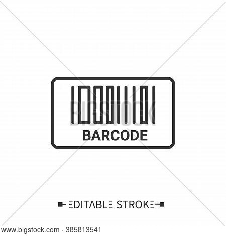 Barcode Line Icon. Batch Code. Inventory Numerating. Tracking.. Transportation, Storage And Logistic