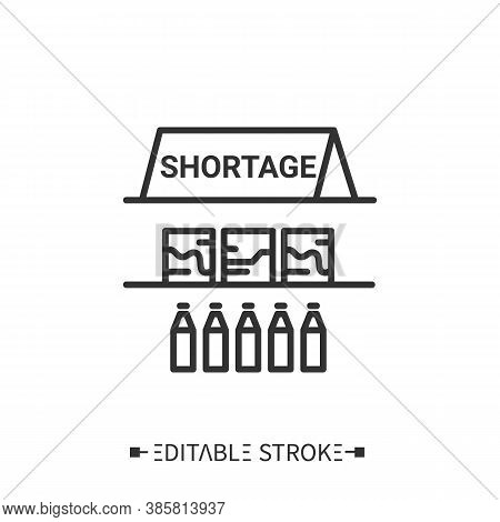 Shortage Line Icon. Limited Item. Merchandise Lack. Empty Store. Transportation, Storage And Logisti