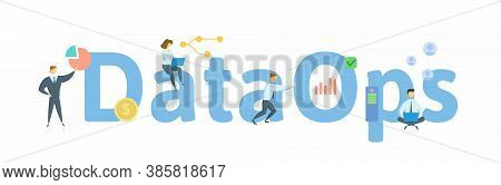 Dataops, Process-oriented Methodology, Used By Analytic And Data Teams. Concept With Keywords, Peopl
