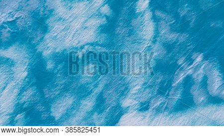 Blue Teal Ogee Design. Dyed Background. Abstract Water Color. Grunge Drawing. Ikat Design. Tie-dye B
