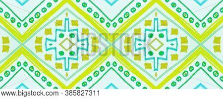 Seamless Tribal Background. White American Ethnic Pattern. Hand Drawn Native Texture. Geometric Trad