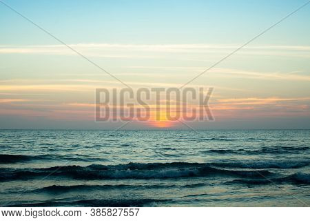 Sunset of the Sea. Thailand, Gulf of Thailand.