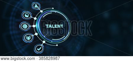 Open Your Talent And Potential. Talented Human Resources - Company Success 3d Illustration