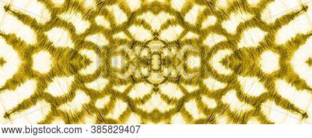 Seamless Cobra Pattern. Cobra Leather Animal Print. Jungle Exotic Background. Yellow And Gold Border