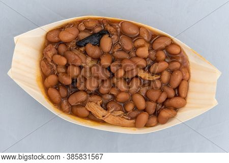 Overhead View Of Bbq Baked Beans Will Taste As Delicious As It Looks.