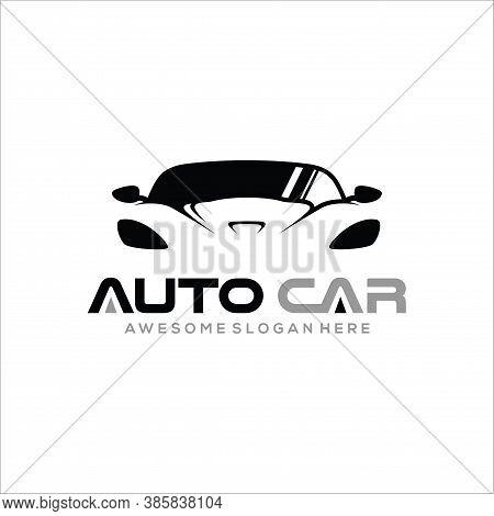 Car Logo, Car Sport Logo, Auto Car Logo Design With Concept Sports Vehicle Icon Silhouett