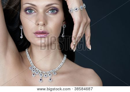 Beauty with jewellery