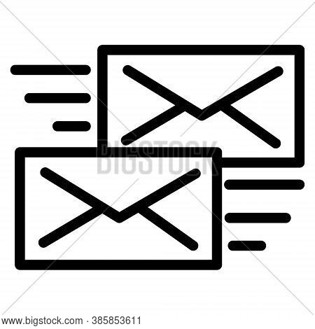 Send Message Icon. Envelope Letter Symbol. Mail Transfer, Email Sending Illustrations.
