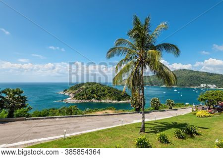 Phuket, Thailand - November 29, 2019: Beautiful Seascape View From View Point In Phuket, Thailand..