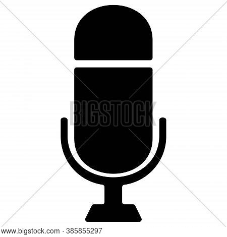 Microphone Icon. Radio Mic Symbol. Karaoke Sign. Icon Illustration For Perfect Web And Mobile Ui Con