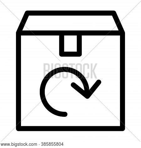 Return Purchase Icon. Package Return, Delivery Return Symbols. Parcel Return To Sender Concept.