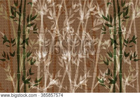 Vector Bamboo Background, Graphic Backdrop Template, Colorful Illustration, Bamboo Forest, Cartoon T