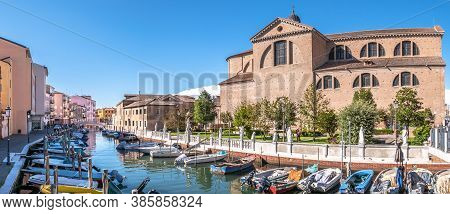 Chioggia,italy - September 1,2020 - Panoramic View At The Cathedral Of Santa Maria Assunta In Chiogg
