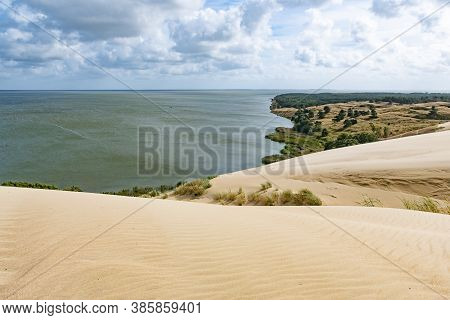 Nagliai Nature Reserve In Neringa, Lithuania. Dead Dunes, Sand Hills Built By Strong Winds, With Rav