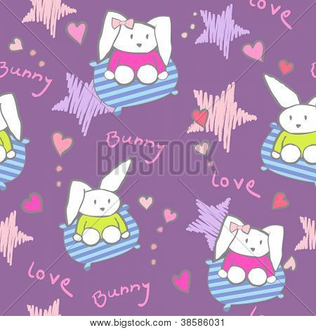 bunny seamless background