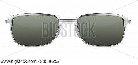 Retro Sunglasses Isolated On White Background