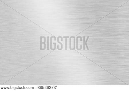 Grey Polished Metal Striped Abstract Background Close Up
