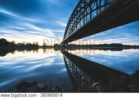 Old 'ijssel Brug' Near The City Of Zwolle In Overijssel, The Netherlands, Architectural Feature At S