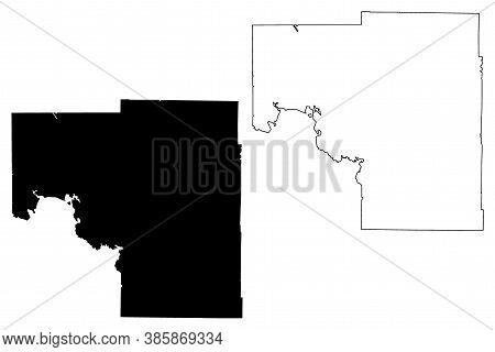 Itasca County,  Minnesota (u.s. County, United States Of America, Usa, U.s., Us) Map Vector Illustra