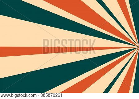 Zoom Retro Sunburst Rays Classic Background Design
